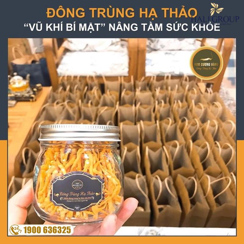 Nhà cung cấp đông trùng hạ thảo khô Kim Cương Vàng 10g chính hãng